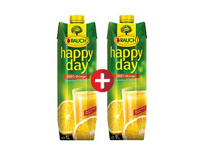 Apelsinų sultys HAPPY DAY (100%), 2 pak. x 1 l